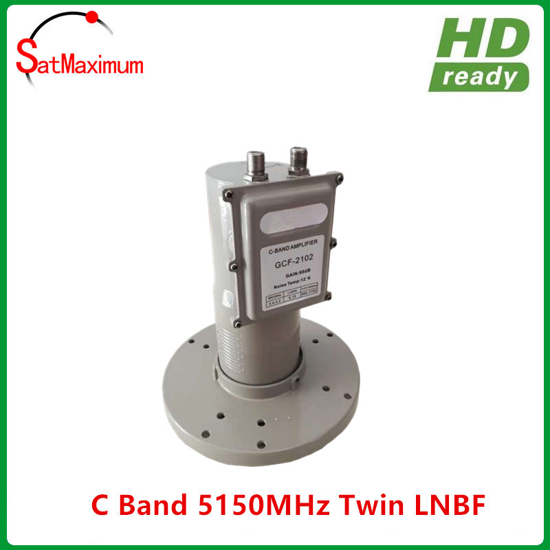 Digital Ready LNB C band 2 output Twin LNBF with L.O Frequency 5150MHZ title=