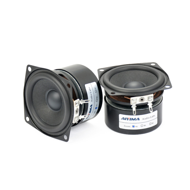 AIYIMA 2 قطعة 2.5 بوصة كامل تردد باس المتكلم الصوت باس وحدة مكبر الصوت مجموعة كاملة Hifi مكبر الصوت الصوت سماعات صغيرة 4Ohm 15 واط