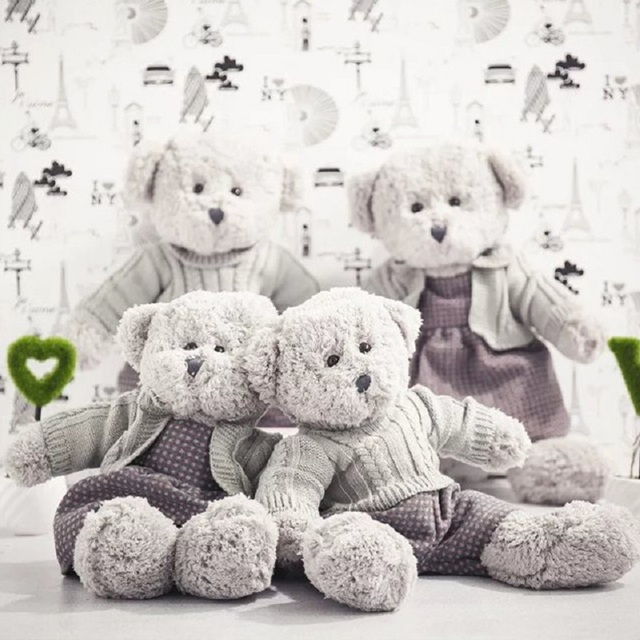 Lovely Cartoon Teddy Bear Stuffed Plush Toy