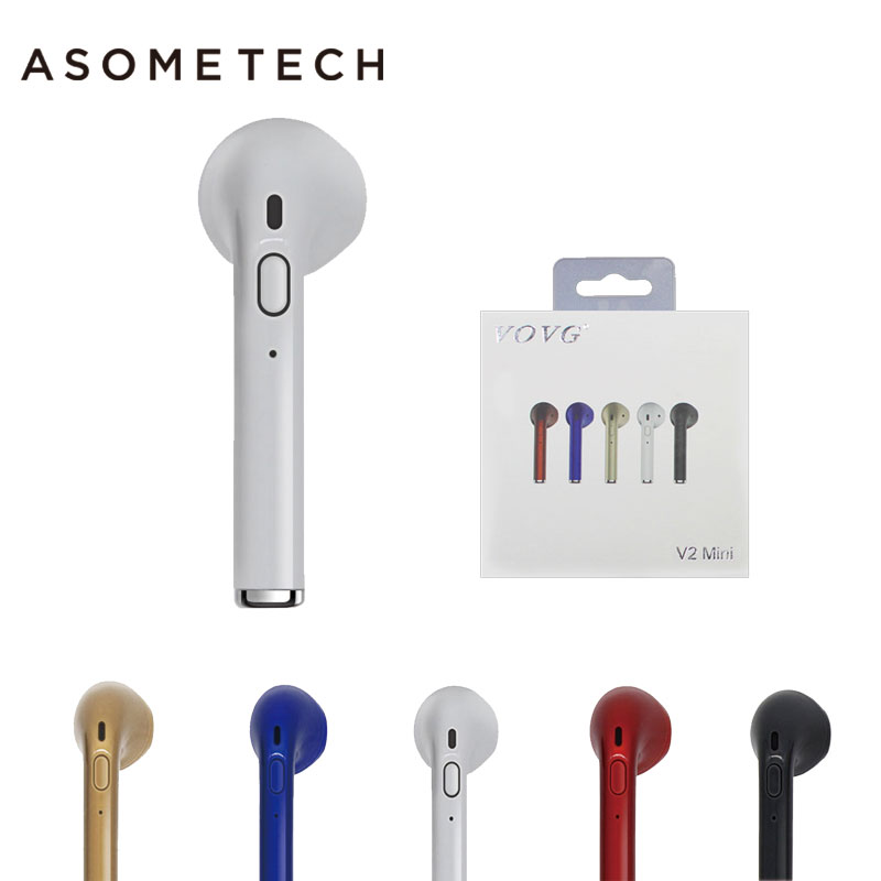 For iPhone 7 plus 6 6s 8 8P X Samsung S8 Xiaomi Smartphone Wireless Earphone Bluetooth Headset In-Ear Invisible Earbud with Mic