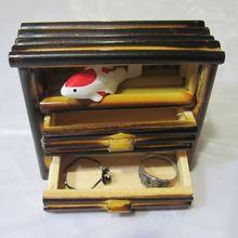Ручной работы бамбуковый шкаф мебель модель антикварная ручная работа мини Ностальгический орнамент