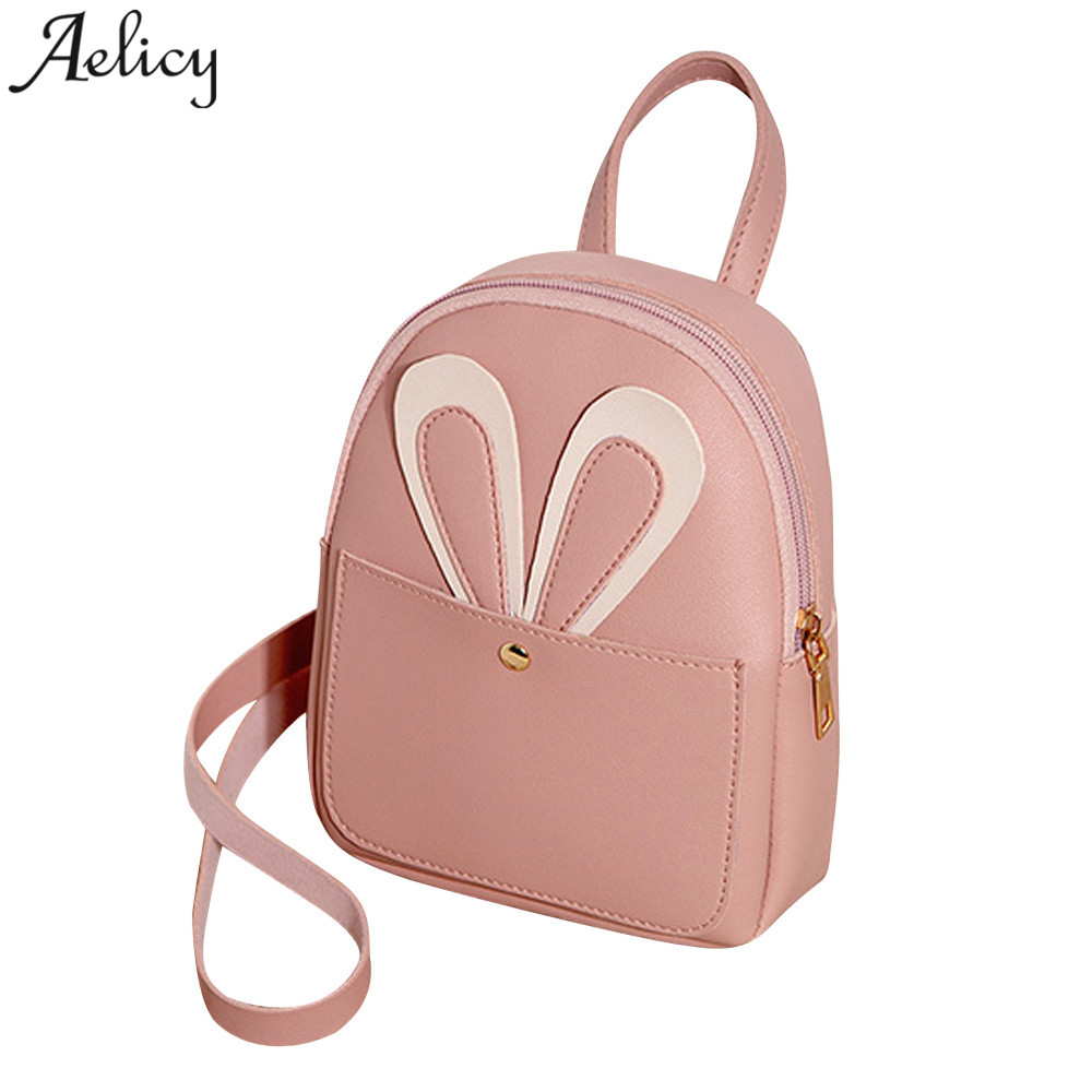 Aelicy women Backpack Fashion Pure Color Girls School Bag Leather Ladies backpack mochila feminina dropshipping hot selling 2019Aelicy women Backpack Fashion Pure Color Girls School Bag Leather Ladies backpack mochila feminina dropshipping hot selling 2019