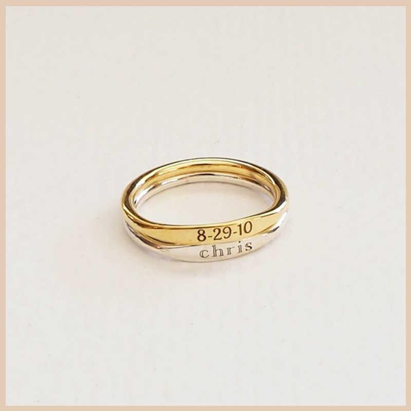 StrollGirl 100% Серебро 925 пробы на заказ деликатное детское имя кольцо на заказ несколько колец подружки невесты подарок персональные ювелирные изделия