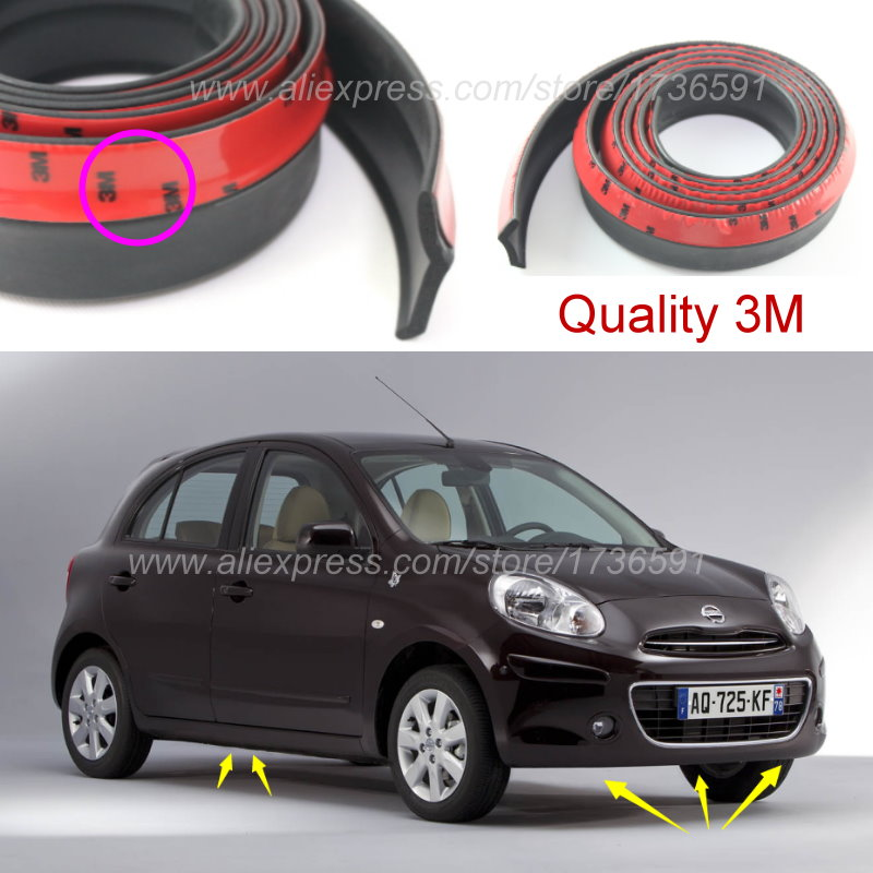 Car Bumper Lip Deflector Lips For Nissan Micra March For Datsun Micra For Mitsuka Viewt For Renault Pulse / Body Kit / Strip cawanerl car sealing strip kit weatherstrip rubber seal edging trim anti noise for nissan almera march micra note pixo platina