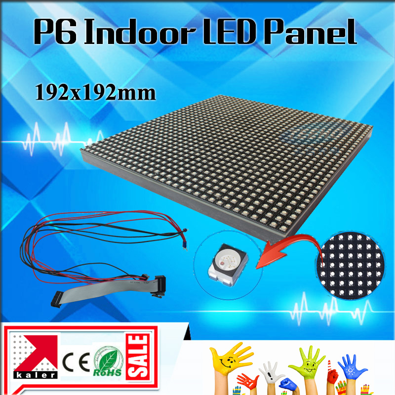Kaler 192x192mm P6 Led Panel Indoor Full Color SMD 3528 Led Modules Panel 32x32 Pixel Led Display Modules Screen Video Event Use