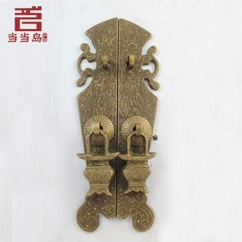 ФОТО Chinese antique copper door furniture handle DG-042 straight handle