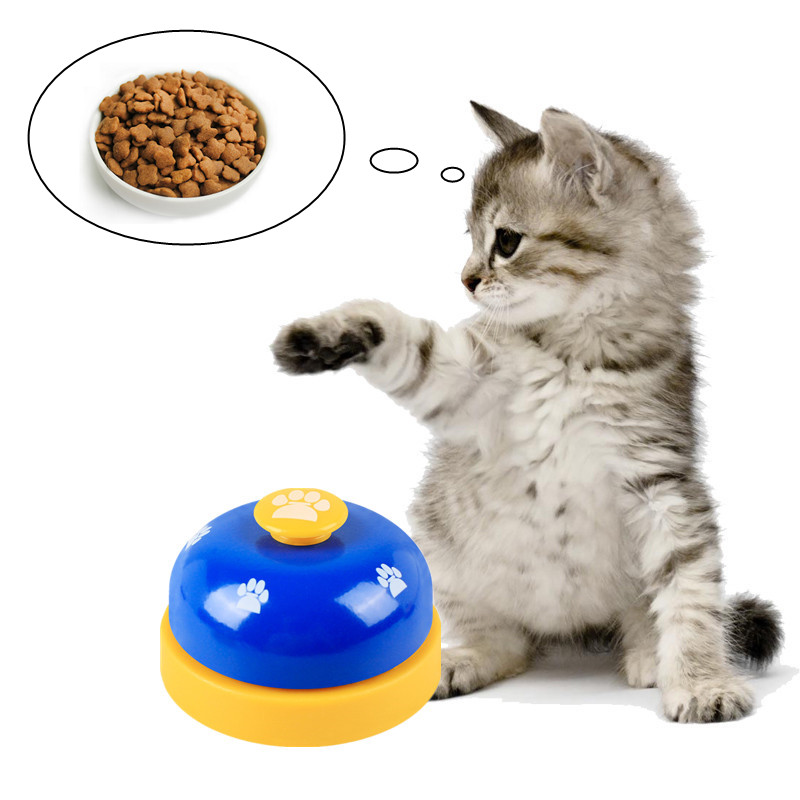 Pet Dog Training Dinner Bell Dog Cat Interactive Toy Training Accessories Puppy Dog Feeder Ring Trainer Funny Products For Dog-0