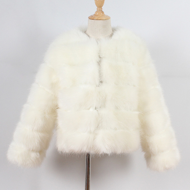 Beige Kids fur coat rex rabbit 5c64fecb8a047