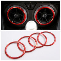 4PCS Red Interior Air Vent Outlet Ring Cover Trim Interior Mouldings For Chevrolet Camaro 2017 2018 New