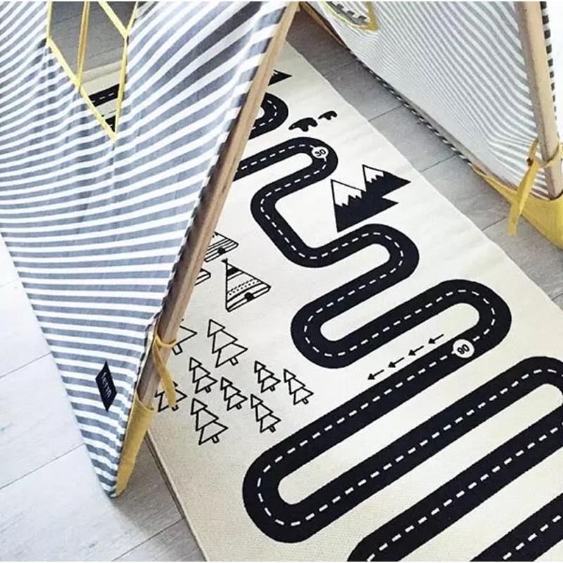 HTB1KW0Hd3aH3KVjSZFjq6AFWpXaM Home Adventure Baby Plays Mat Crawling Mat For Children Game Pad Children Carpet Kids Rug