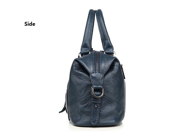 MJ Women Genuine Leather Handbag Female Real Cow Leather Tote Bag Ladies Large Capacity Shoulder Bag Crossbody Bags for Women (13)