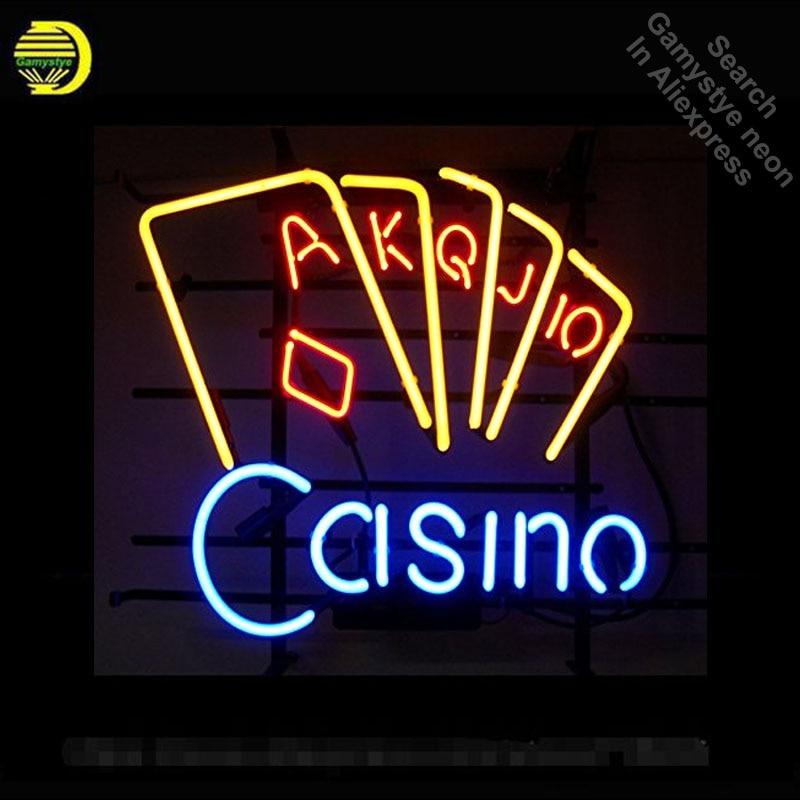 Neon Sign Casino Poke Neon Light Sign Beer Pub Restaurant Home Display Arcade signs handcraft Publicidad arcade lamps 17x14 inch
