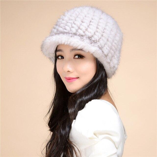 Factory outlet женская новый норки норки шляпа вязаная шапка зимы детей утолщение теплая зима hat бесплатная доставка/11color. # SD25