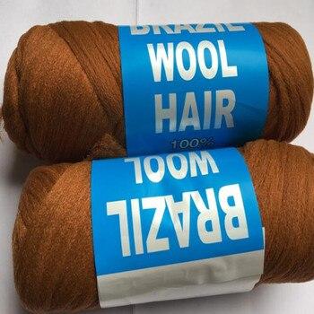 Precio de fábrica 27 mechones 70g por paquete pelo de lana brasileña baja temperatura retardante de llama fibra sintética para trenzado