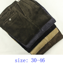 New arrival jesienno zimowa gruba wysoka talia otyłe sztruksowe luźne spodnie bawełniane spodnie na co dzień plus rozmiar 30 36 38 40 42 44 46