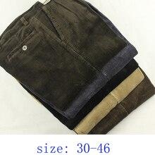 Nuovo arrivo di Autunno di inverno di spessore a vita alta obesi di velluto a coste pantaloni di cotone allentati pantaloni casuali più il formato 30 36 38 40 42 44 46