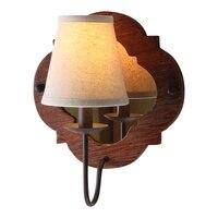 American country wooden wall lamp retro old living room wall entrance corridor bedroom wall lamp ya73118