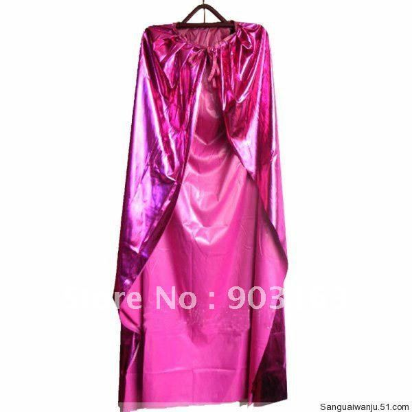 Wholesale 1Xpcs New Red Satin Cape Cloak masquerade super halloween dress + free shipping