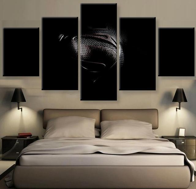 5 Stücke Superman Logo Wandkunst Bild Moderne Dekoration Wohnzimmer ...