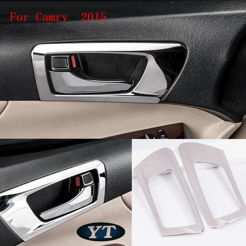 Vnitřní obložení samolepek pro automatické dveře pro Toyota Camry 2012-2016,4ks / lot, auto příslušenství