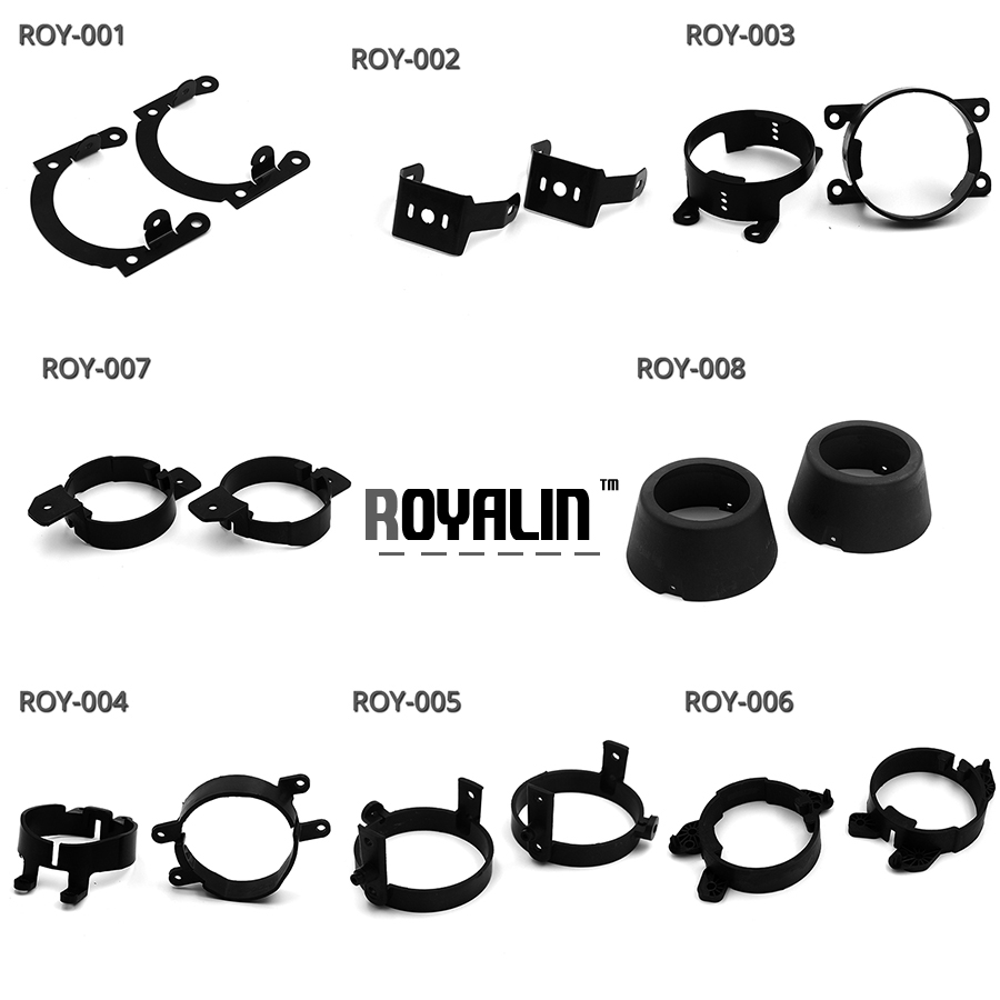 ROYALIN Fog Light Lens Bracket For Ford Toyota Nissan Mazada Citroen Peugeot Opeal Lexus Teana Mercedes-Benz Car Styling DIY