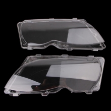 2 Pcs/Pair Headlight Lenses Replacement Left&Right Headlamp For BMW E46 4 DR #401