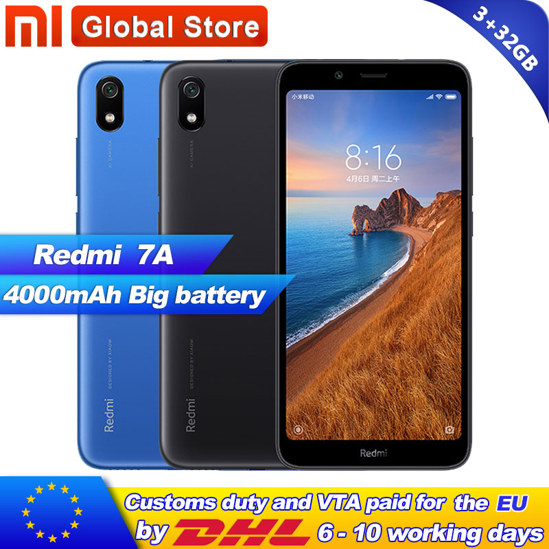 Xiaomi Redmi 7A 3GB RAM 32GB ROM 5 45 Snapdargon 439 Octa core Mobile Phone 4000mAh