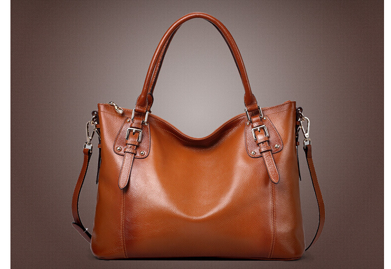 ФОТО 2016 Fashion women bag vantige leather shoulder handbag women tote bag luxury genuine leather lady handbag