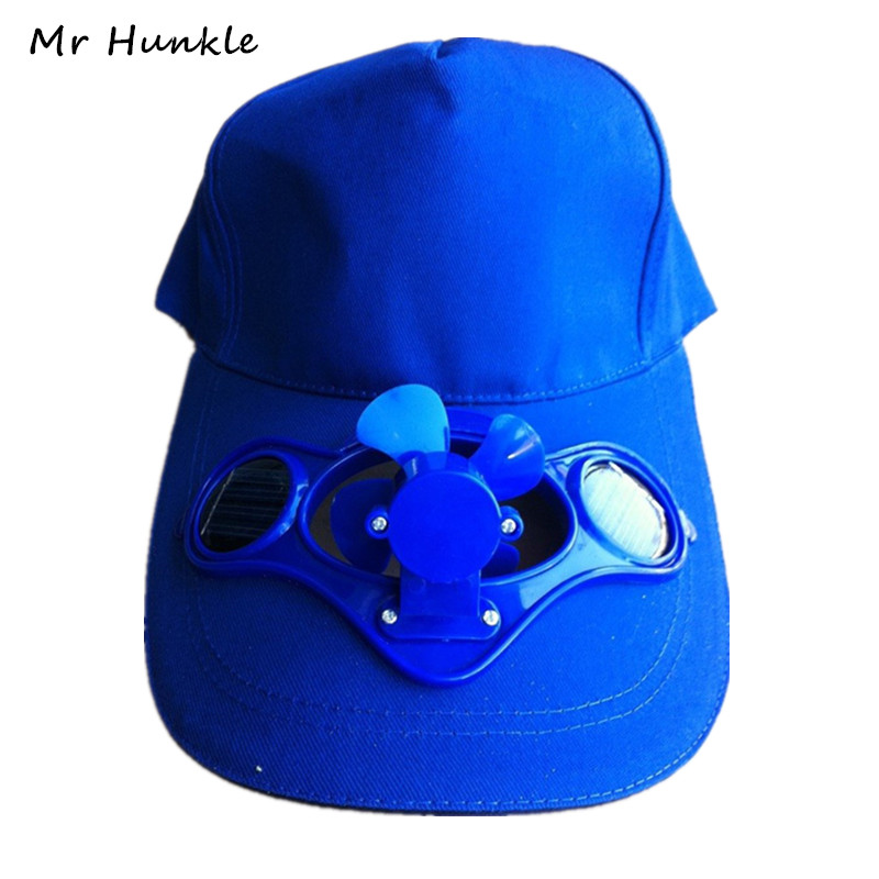 2016 Novelty Sun Solar Power Hat Cap With Cooling Fan For