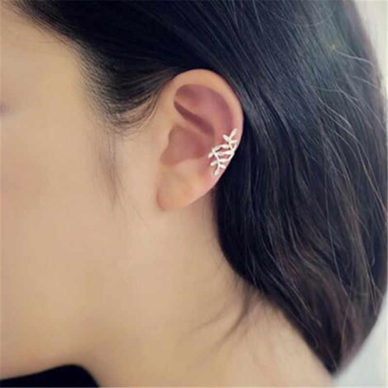 LUSION โลหะ Hoop ต่างหูแฟชั่นผู้หญิงเครื่องประดับ 1pcs VINTAGE คลิปหูราคาถูกเกาหลีต่างหูของขวัญขายใหม่คริสต์มาส
