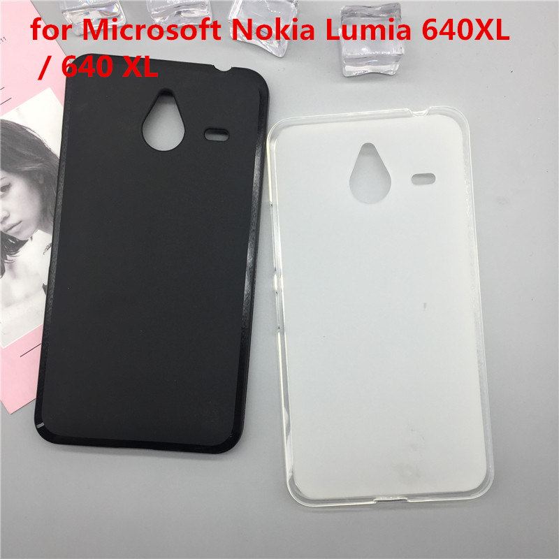 Case Soft Silicon Phone Para for Microsoft Nokia <font><b>Lumia</b></font> <font><b>640XL</b></font> / 640 XL Luxury TPU Fundas Protector Full Cover Shell Black Cases image