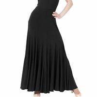 Black/red/blue/purple 4 colors flamenco skirts ballroom dance skirts women's ballroom skirts standard waltz tango dance skirt