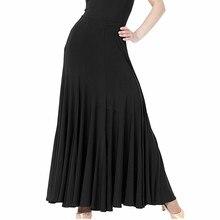 블랙/레드/블루/퍼플 4 색 플라멩코 스커트 볼룸 댄스 스커트 여성 볼룸 스커트 표준 왈츠 탱고 댄스 스커트