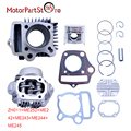 47mm Cylinder Head Piston Rings Gaskets Kit for Honda C90 Trail 90 Scooter Moped 90cc 86CM3 Motorcycle Dirt Pit Bike ATV Parts