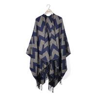 New Bohemian Tassels Poncho Winter Scarf Women Blanket Scarf Boho Long Coat echarpe poncho femme hiver 2018
