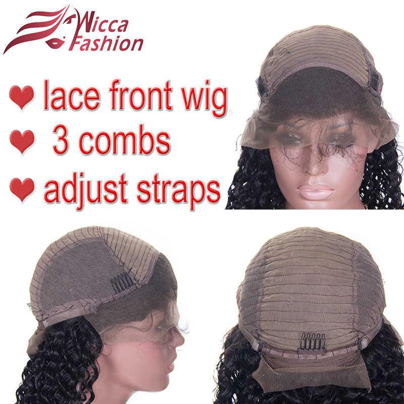 Dream beauty 250% плотность бразильские человеческие волосы на кружеве парики боковая часть волосы remy бесклеевые вьющиеся парики предварительно выщипанные волосы