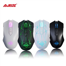 Ajazz AJ52 7 RGB Backlit Modes 2 well-designed side buttons Wired Gaming Mouse Professional E-sport Gaming mice for lol DOTA PC