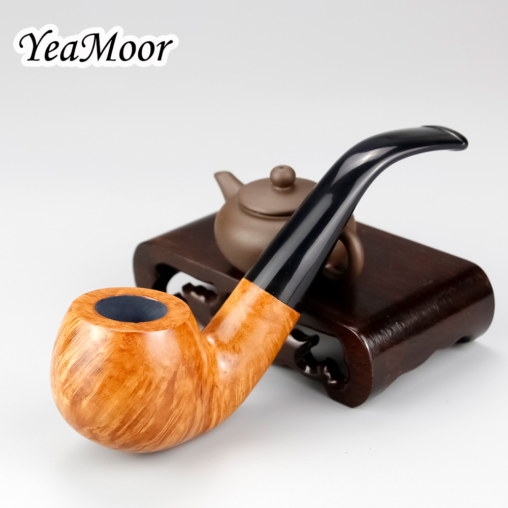 Top Grade Briar Pipe Set 50 cleaners 20 filters free 9mm Filter Briar Wood Smoking Tobacco