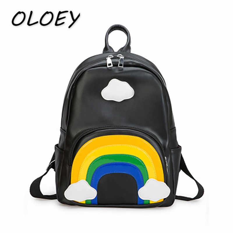 Рюкзак в детский сад с радугой для родителей и детей, детские школьные сумки с защитой от потери, Сумки из искусственной кожи для маленьких девочек, очень милый комплект #