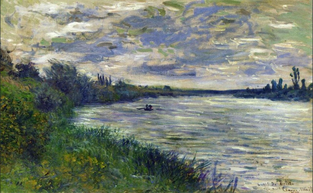 High quality Oil painting Canvas Reproductions The Seine near Giverny (1897) By Claude Monet hand paintedHigh quality Oil painting Canvas Reproductions The Seine near Giverny (1897) By Claude Monet hand painted