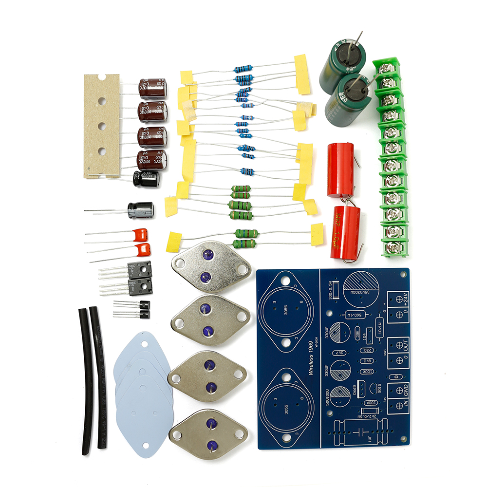 Online Shop St2n3055 New Original Jlh 1969 Two Channels Simple Class 10w Audio Amplifier A Preamp Power Diy Kit Transistor Amplifiers Board Aliexpress Mobile