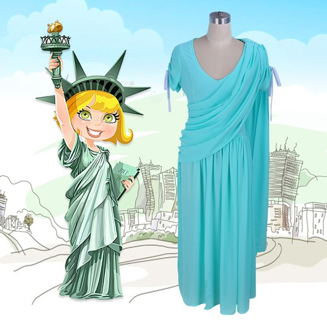 Plus size women Summer dress Statue Of Liberty goddess cosplay costume sexy Chiffon Evening party dresses  sc 1 st  AliExpress.com : statue halloween costume  - Germanpascual.Com