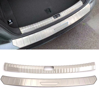Car accessories For Audi A6 C8 2019 Stainless Steel Rear Inner Trunk Boot Bumper Guard Plate Protector Molding Trim 2pcs