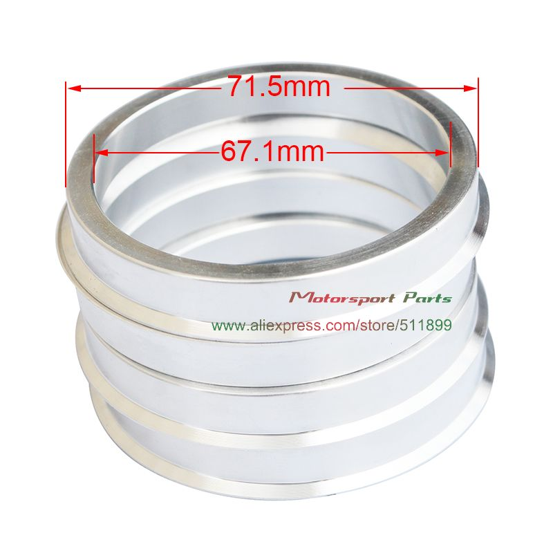 4x Spigot Rings 66,1 mm 56,1 mm Conversion spigot rings for alloy wheels