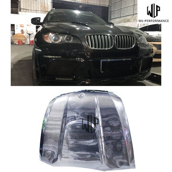 E71 High Quality Carbon Fiber Front Engine Hood Bonnets engine Covers Car Body Kit For BMW X6 E71 2008-2014