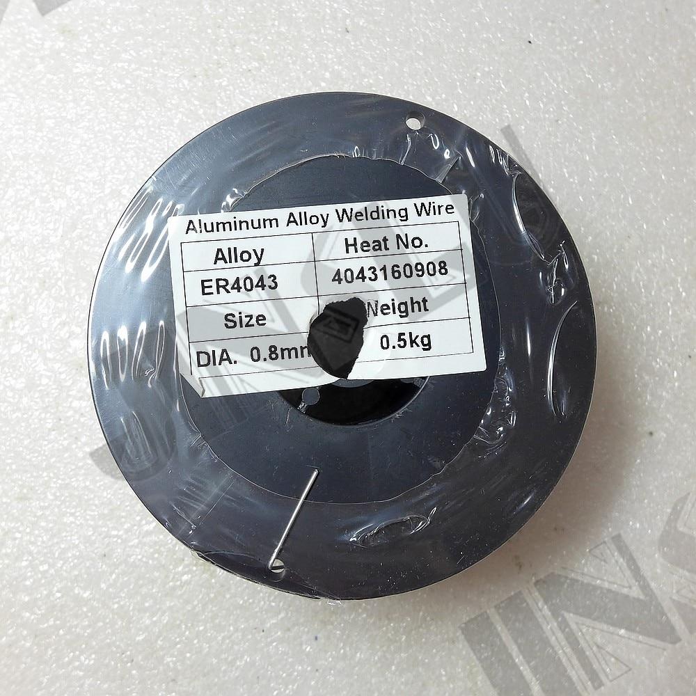 ER 4043 0.5 kg 0.8mm 0.030 pollici In Lega di Alluminio Filo di Saldatura Mig Nucleo di Filo per Saldatura Mig Saldatore spool Pistola di saldatura bobina