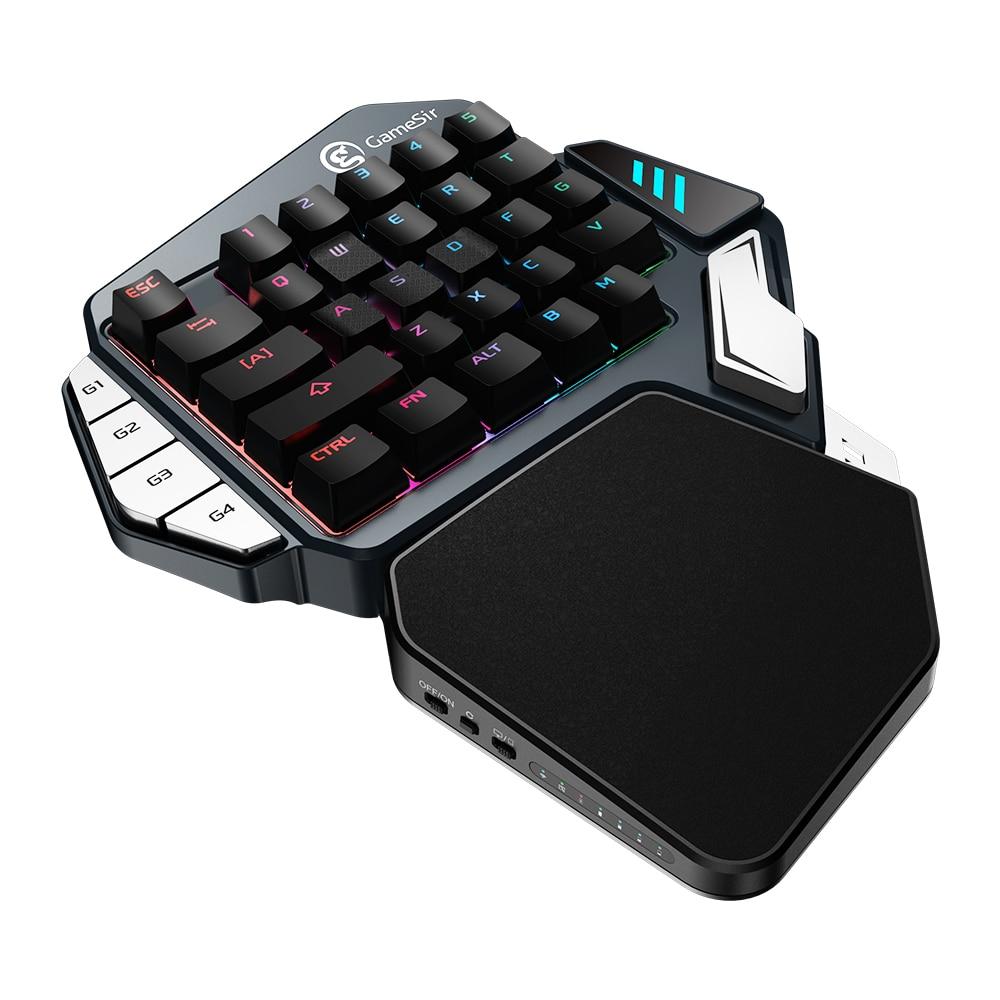 GameSir Z1 Vermelho/Azul Teclado Mecânico Teclado Gaming Backlight RGB Tipo C Cabo de mão Única Para Jogos FPS PUBG para iOS/Android