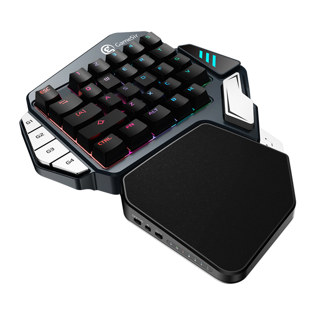 GameSir Z1 Red/Blue Mechanical Keyboard Single hand Gaming Keypad RGB Backlight Type C Cable For PUBG FPS Games For iOS/Android