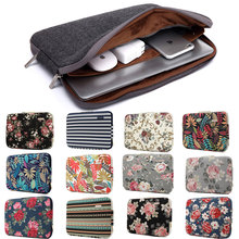 """2019 Laptop Sleeve Case Notebook Binnenzak Computer Cover Pouch Voor Dell Asus Lenovo Macbook Pro Air 11 """"12"""" 13 """"14"""" 15 """"15.6"""" 3 Layer"""
