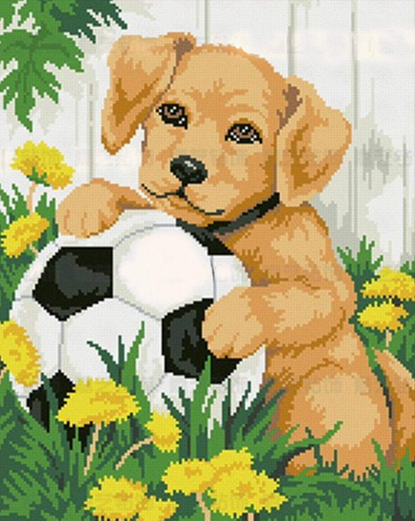 Puppy play ball decoration Rhinestone diy Diamond 5D cross Stitch Paintings Indoor decorations Full Diamond mosaic Crafts